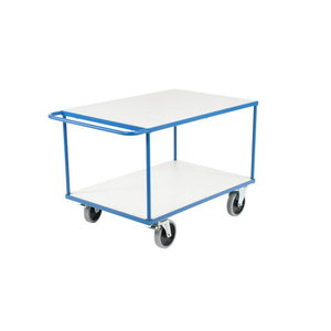 Platform trolley 1000x700mm, cap.500kg, 2 shelves, Intra