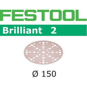 Lihvkettad BRILLIANT 2 / 150/48 / P80 / 10tk, Festool
