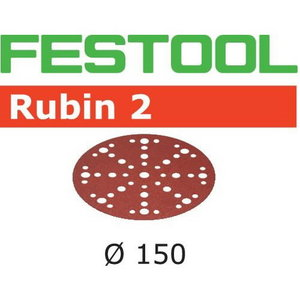 Slīpēšanas diski 150mm P80, 48 holes RUBIN2 50gab., Festool