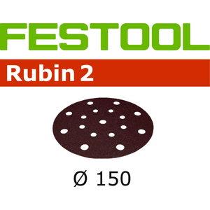 Slīpēšanas diski 150mm P120, 48 holes RUBIN2 50gab., Festool