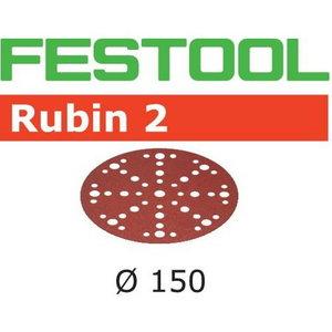 Slīpēšanas diski 150mm P180, 48 holes RUBIN2 50gab., Festool
