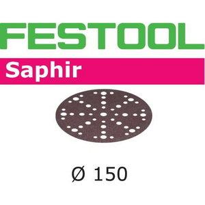 Šlif. popierius Saphir STF-D150/48 P80 SA/25 25 vnt., Festool