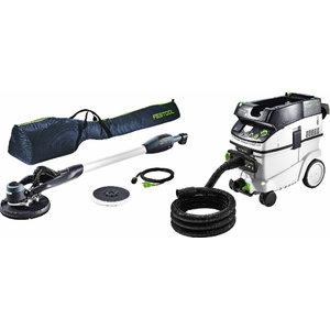 Slīpmašīna PLANEX LHS-E 225 EQ + CTL 36 putekļu sūcējs, Festool
