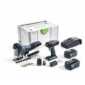 Akumuliatorinių įrankių rinkinys montažui  T 18+3/PSC 420 Li, Festool