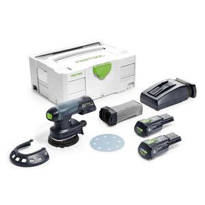 Akumulatora ekscentra slīpmašīna ETSC 125 Li Plus / 3,1Ah, Festool
