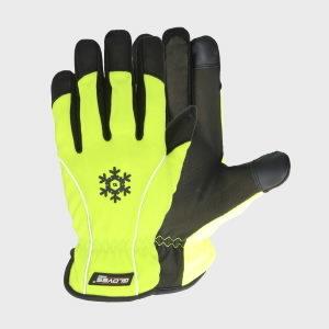Pirštinės, ožkos oda, spandeksas, žieminės, Mech-Traffic 11, Gloves Pro®