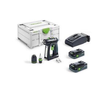 Cordless drill-driver  C 18 HPC 4,0 I-Plus,18V / 4.0 Ah, Festool