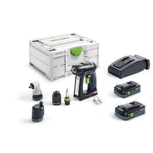 Cordless drill-driver  C 18 HPC 4,0 I-Set,18V / 4.0 Ah x 2, Festool