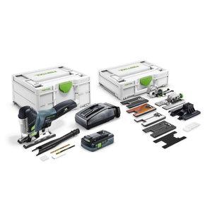 Cordless jigsaw CARVEX PSC 420 EBI Set, 18V / 4,0 Ah, Festool