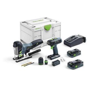 Akutrell/-kruvits T18+3 + Akutikksaag PSC 420 Li 5,2-Set, Festool