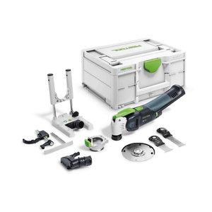 Akumulatora oscilators VECTURO OSC 18 E-Basic Set karkass, Festool