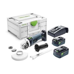 Angle grinder AGC 18-125  5,2 Ah EB-Plus, Festool