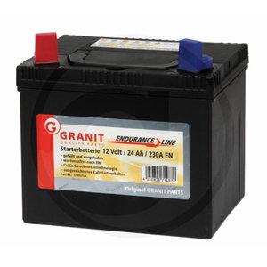 Akumulators 12V 24Ah + -  195x130x183, Granit