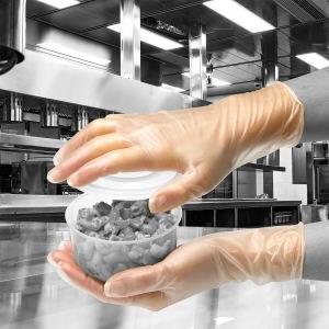 Kindad, vinüül, puudriga, ühekordsed, 100tk/pakk 8/M, Gloves Pro®