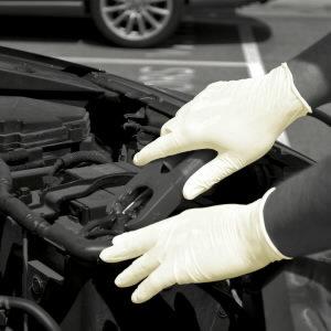 Kindad, lateks, puudriga, ühekordsed, 100tk/pakk, Gloves Pro®