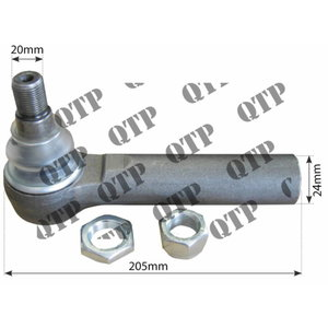 Tie rod outer 87583742, AL161301, AL204776 JD NH, Quality Tractor Parts Ltd