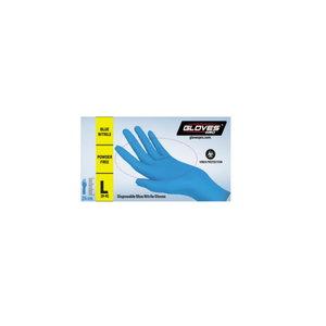 Kindad, nitriil, puudrita, ühekordsed L/9, Gloves Pro®