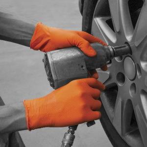 Pirštinės vienkartinės, nitrilas, be pudros 90vnt, oranž. M/8, Gloves Pro®