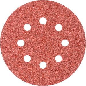 Velcro grinding disc KSS 8 holes 125mm P40, Pferd
