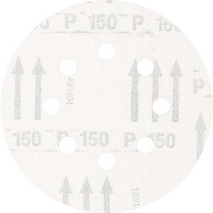 Šķiedrdisks ar līplenti d-125mm P150 Velcro (Hookit) 8 hole