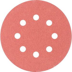 Velcro discs KSS 8 hole 125mm P180, Pferd