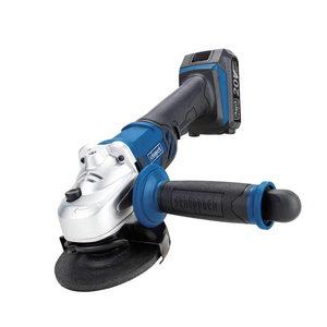 Cordless angle grinder CAG115-20ProS, 1x2,0 Ah, Scheppach