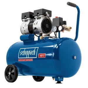 Oilfree compressor HC 50Si, silent, Scheppach