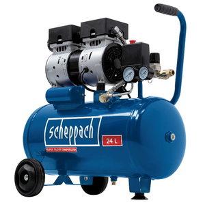 Oilfree compressor HC 24Si, silent, Scheppach