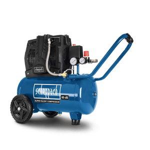 Oilfree compressor HC 25Si, silent, Scheppach