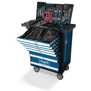 Tool trolley with 7 drawers with tool set 263 pieces TW1000, Scheppach