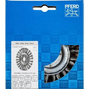 Wheel brush 115x12/22mm CT steel 0,5mm COMBITWIST RBG SGP, Pferd