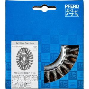 Šepetys 125x12x22,2mm plienas 0,50mm CT RBG, Pferd