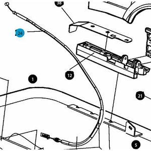 Throttle cable, Atlas Copco