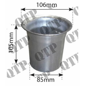 Exhaust flange welded JD 7000series, Quality Tractor Parts Ltd