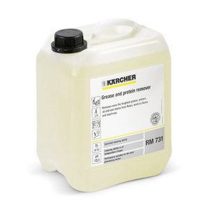Fat and protein solvent cleaning agents, Kärcher