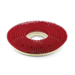 Diskinis šepetys, vidutinio kietumo, raudonas, 508 mm