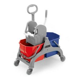 Double bucket trolley with squeezer, Kärcher