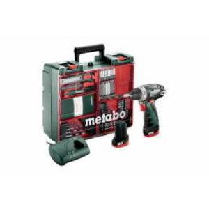 Akutrell PowerMaxx Basic Mobile Workshop, 63 osa, (2x2,0Ah), Metabo