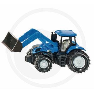 Mudel NEW HOLLAND traktor koos esilaaduriga 1:87 SIKU, Granit