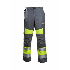 Kõrgnähtavad keevitaja püksid Multi 6001  kollane/hall 48
