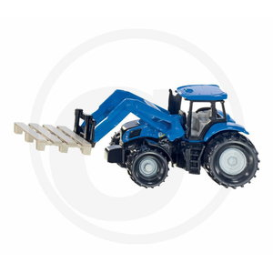 Tractor with pallet fork and pallet, 1:87, Granit