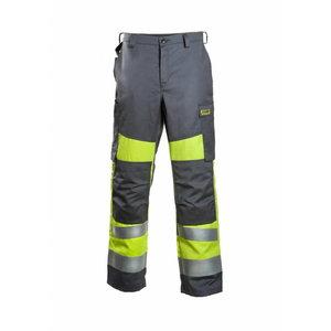 Kõrgnähtavad keevitaja püksid Multi 6001  kollane/hall 56
