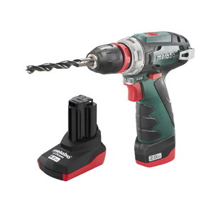Drill driver PowerMaxx BS Quick Pro, in case / 2,0Ah + 4,0Ah, Metabo