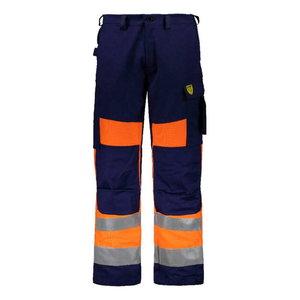 Kõrgnähtavad keevitaja püksid Multi 6001, oranž/t.sinine 46