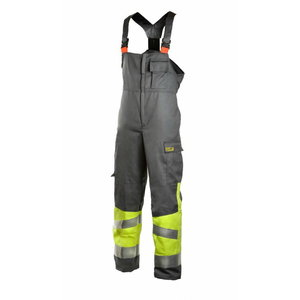 Welders bib-trousers Multi  6002, yellow/grey XL, Dimex