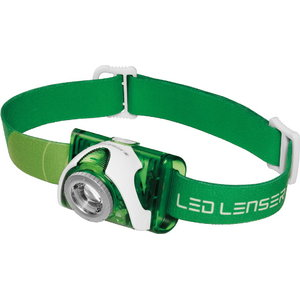 Galvas lampa SEO3 Green, 3xAAA, balta/sarkana g, IPX6, 100lm, LedLenser