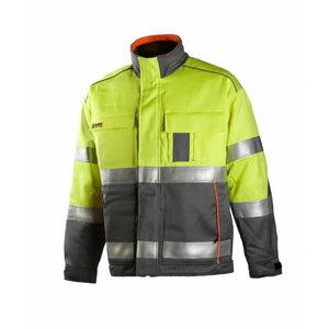 Metinātāju jaka Multi 6004, dzeltena/pelēka 2XL, , Dimex