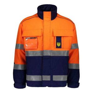Kõrgnähtav keevitaja talvejope Multi 6004, sinine/oranž, Dimex