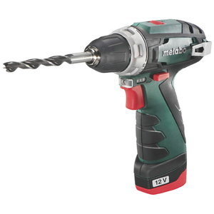 Drill driver PowerMaxx BS Basic / 2x2,0Ah, in small case, Metabo