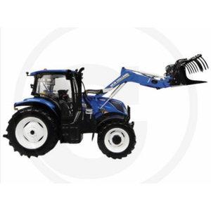 Traktora modelītis 1:32 New Holland T6.145 ar frontālo iekr, Granit